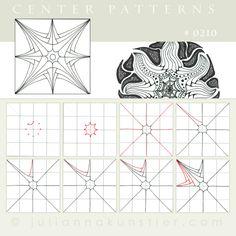 Pattern 0210, Julianna Kunstler, zentangle,  Betweed