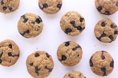 Vegan Blueberry Flax Muffins Gluten Free kbaked 12