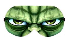 Yoda Jedi Master Star wars Sleep Sleeping Eye Mask Masks Night Blindfold Travel kit Eyes cover covers pillow patch wear Slumber Eyewear Gift by venderstore on Etsy