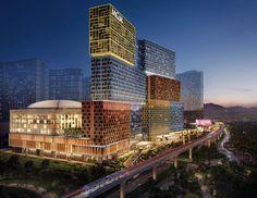Artist illustration of MGM Cotai casino resort