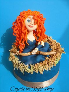 Cupcake the Right Shape / Sugar Figures: Brave Merida Fondant Figure
