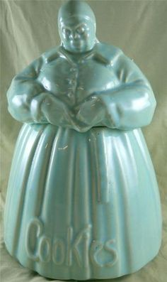 McCoy Mammy Aqua Blue Cookie Jar