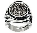 Sterling Silver Bold Drusy Ring by Or Paz - J330213 — QVC.com