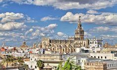Catedral de Sevilla y la Giralda - Vista panorámica de Sevilla desde la Torre del Oro