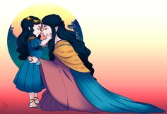 Dearest Nana, I Love You pt. 1 by JayEyBee. Melian with little Lúthien