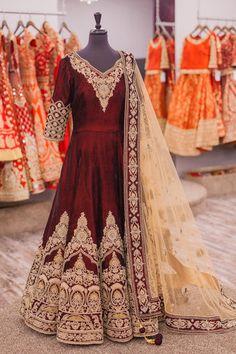 Champagne Bridal Anarkali