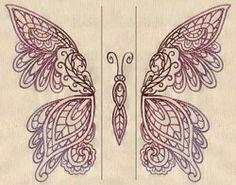 Mendhika Butterfly (Split) design (UTZ1406) from UrbanThreads.com