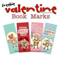 Valentine's Day book marks - 12 to choose from