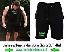 Unchained Muscle Gym Shorts for men OUT NOW!!  Get yours at www.unchainedmuscle.uk (CLICK VISIT)!  #apparel #gym #clothing #fitness #workout Gym Clothing, Fitness Clothing, Clothes, Mens Gym Shorts, Gym Wear, Muscle Men, Workout Gear, Bodybuilding, Hoodies