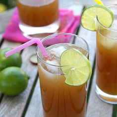 This tropical rum punch with ginger beer and pineapple juice will knock your socks off! It's time to kick back in the hammock.