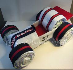 Diaper Cake Race Car от NicasOccasionGifts на Etsy