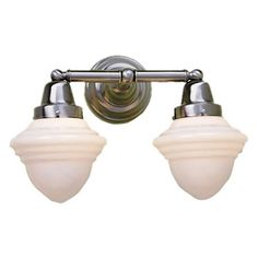 Norwell Lighting Bradford Schoolhouse 2 Light Bath Vanity Light | Wayfair