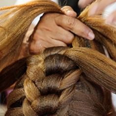 Knotted Mohawk Braid- possibly going down Sephiroth's parting.