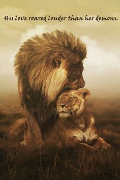 Your lion - Funny Animals Couple Lion, Beautiful Creatures, Animals Beautiful, Fotografia Pb, Animals And Pets, Cute Animals, Wild Animals, Black Animals, Animals Photos