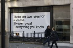 Two rules for success...except for good consultants!