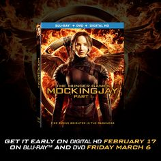 The #Mockingjay lives! Bring the #1 Movie of 2014 home on Digital HD February 17th and Blu-Ray/DVD March 6th!