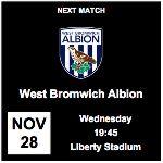 NEXT GAME: WBA, Liberty Stadium, 28/11/12