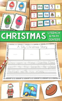 So many engaging activities for the Christmas season with this Literacy and Math bundle.