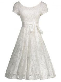GET $50 NOW | Join RoseGal: Get YOUR $50 NOW!http://www.rosegal.com/vintage-dresses/floral-lace-self-tie-vintage-dress-1103830.html?seid=5505597rg1103830