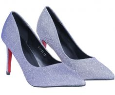 Silver Point Toe High Heeled Pumps. spenditonthis.com