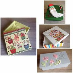 Caixas em mdf - motivo natal e flores