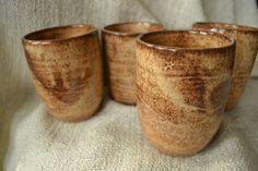 Set of 4 tumblers by lionsandlavender on Etsy, $68.00 #lionsandlavender #ceramics #handmade #lovelovelove