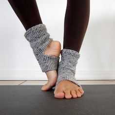 Cozy Grey Crochet Yoga Socks. $21.00, via Etsy.