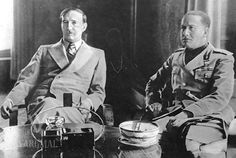 King Zog of Albania (left) with Ital.Count Ciano in 1937. Italy © Illustrated London News