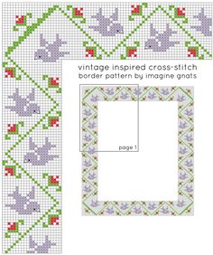the free pattern for this vintage inspired cross-stitch will make the perfect border for your modern cross-stitch sampler.