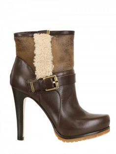 110mm Calf Suede Shearling Boots - Lyst