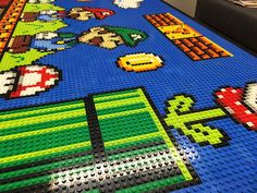 Our Lego Super Mario Bros table top collage is complete! We designed and created a Super Mario scene completely out of Lego for our design studio Lego Mario, Lego Super Mario, Super Mario Bros, Hama Beads Mario, Lego Wall Art, Lego Mosaic, Lego Table, Lego Room, Super Funny Videos