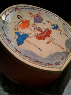 Cute vintage hat box for a young girl.