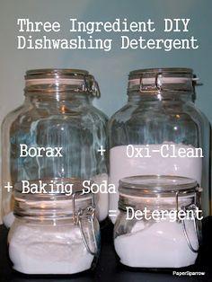 DIY Dishwashing Detergent.  A total money saver.
