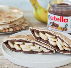 Image via We Heart It #awesome #banana #beutiful #nutella