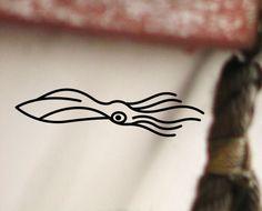 SQUID Calamari Fishing Decal / Vinyl Sticker for Window / Boat / Car / Bucket