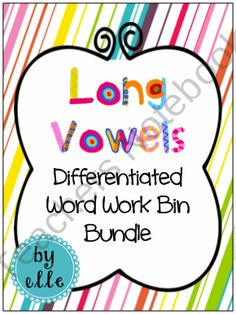 Long Vowels Differentiated Word Work Bin Bundle product from Elementary Elle on TeachersNotebook.com