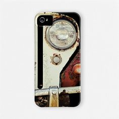 iPhone 5 Case - Rusty Jeep Willys for iPhone 5 case for him, Rust, White, Headlight - Retro, hip, Geek, Dude, Auto, Car iPhone 5 Cover. #iphone5 #iphone5case