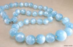 WANT!   Blue Moonglow Necklace Vintage | eBay