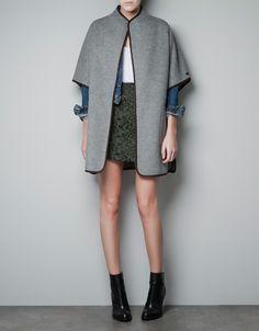HAND MADE CAPE - Coats - Woman - ZARA