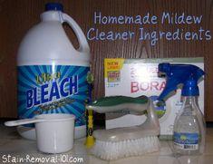 Homemade Mildew Cleaner Recipe