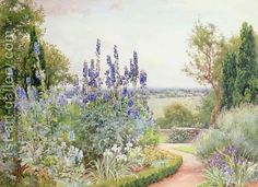 Alfred Parsons- A Garden Near the Thames
