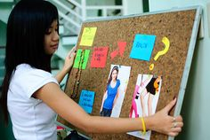 How make a weight-loss inspiration board.