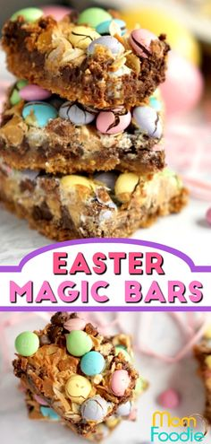 Easter Magic Cookie Bars - Easy Easter Dessert The Effective Pictures We Offer You About Easter Recipes Dessert brunch ideas A quality picture can tel Dessert Simple, Bon Dessert, Dessert Bars, Dessert Recipes, Easter Deserts, Easy Easter Desserts, Desserts To Make, Holiday Desserts, Easter Baking Ideas