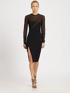 Emilio Pucci Slash Illusion Dress