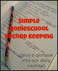 A Day-in-the-Life of Homegrown Learners record keeping for homeschool
