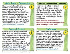 Free sample of my Reading task cards (17) - (Context Clues, Inference, Theme, Prediction, Main Idea/Summarize, Drawing Conclusions, Word Problems and Number Line)... in large print, ideal for the overhead projector as well as cut out for rings. Also included is a sample of my Big Eye Reading foldable and my new Comic Reader series.
