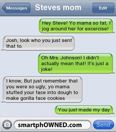 Good comebacks for your mom jokes