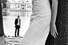 neat perspective shot...detail of the dress and then the groom