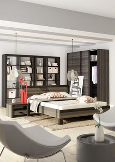 sypialnia DENVER / DENVER bedroom #bedroom #sypialnia #mebledosypialni #bedroomfurniture #meble #furniture #lozko #bed #design #interior #wnetrza #furnitureproducer #dignet #dignetlenart #mebledenver