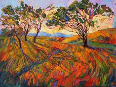 Paso Mosaic - Erin Hanson Prints - Buy Contemporary Impressionism Fine Art Prints Artist Direct from The Erin Hanson Gallery Erin Hanson, Abstract Landscape, Landscape Paintings, Oil Paintings, Modern Impressionism, California Art, Mosaic Art, Les Oeuvres, Fine Art America